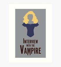 Interview with the Vampire Minimalist Poster Art Print
