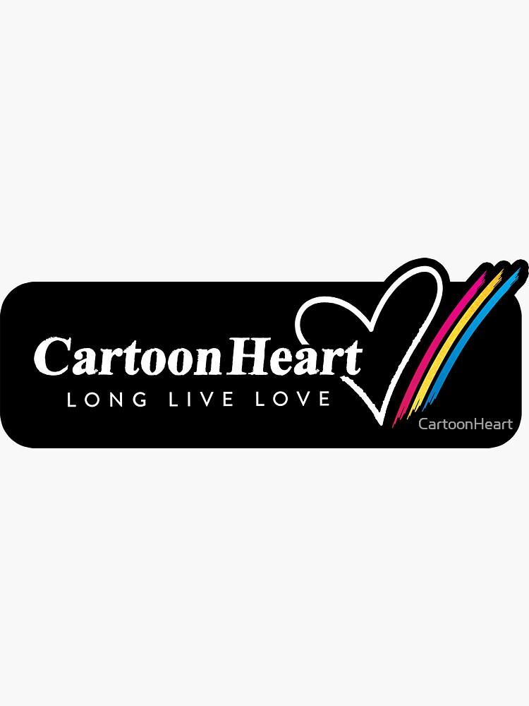 Cartoon Heart Logo, Stripe Sticker by CartoonHeart