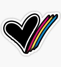 Heart Stripe Sticker Sticker