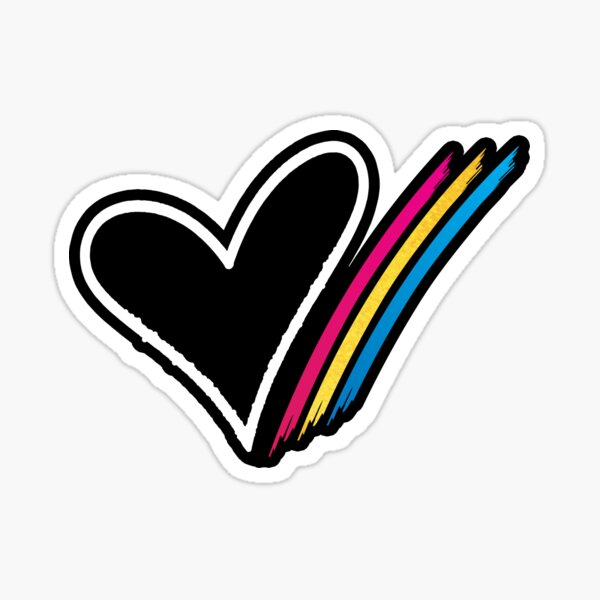 Heart Stripe Sticker Sticker