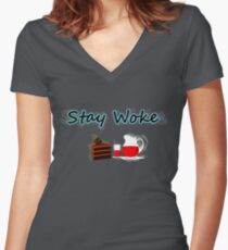 Stay Woke Women's Fitted V-Neck T-Shirt