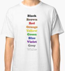 Resistor Code 9 - Colour Listing Classic T-Shirt