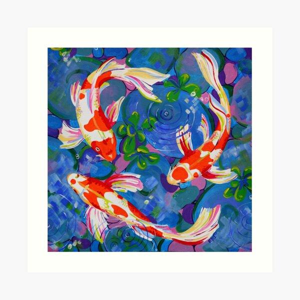 Koi - Acrylic koi fish painting Art Print