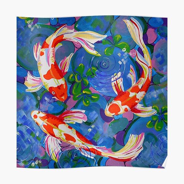 Koi - Acrylic koi fish painting Poster