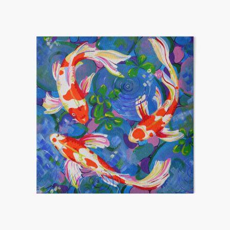 Koi - Acrylic koi fish painting Art Board Print