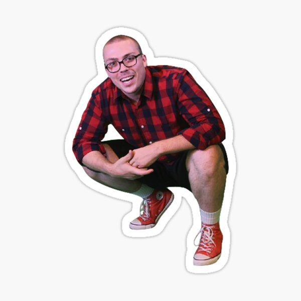Anthony fantano theneedledrop rap squat meme png Sticker