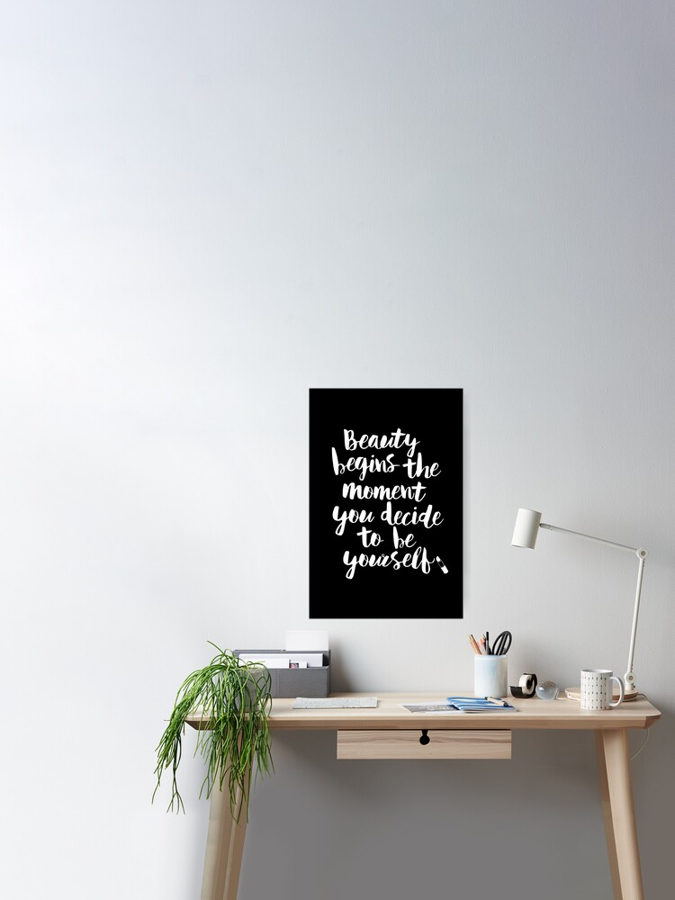 Marilyn Monroe Quote beauty dressing room office art wall inspirational print