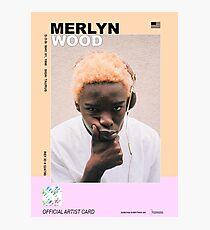 rapper cards: merlyn wood, man Photographic Print