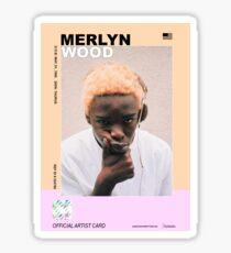 rapper cards: merlyn wood, man Sticker