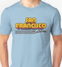 San Francisco, California | Retro Stripes Unisex T-Shirt