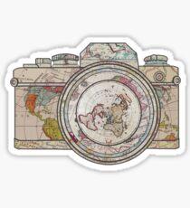 Wanderlust Photographer Travel the Globe  Sticker