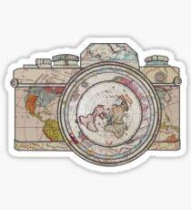 Wanderlust Photographer Travel the Globe  Sticker