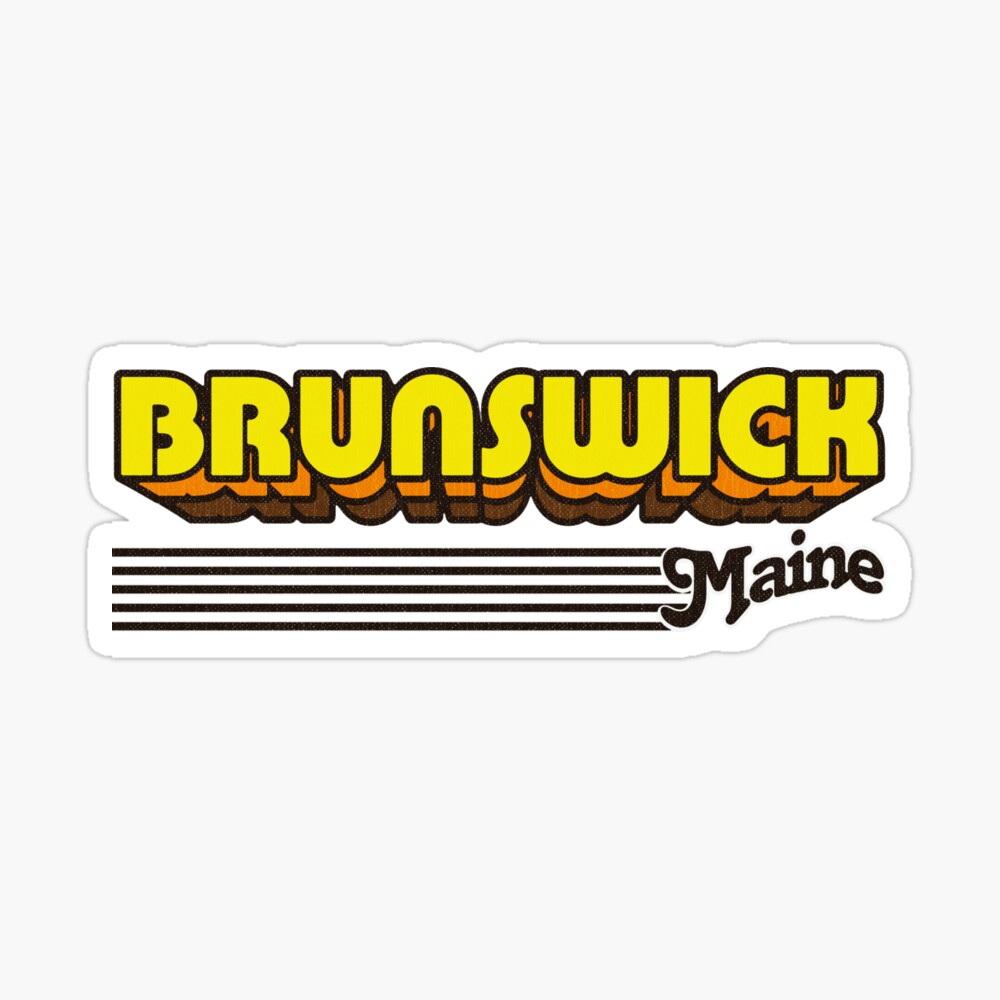 Brunswick, Maine | Retro Stripes Sticker