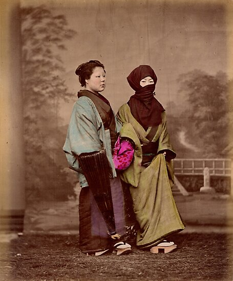 Japanese women in winter costume by Fletchsan