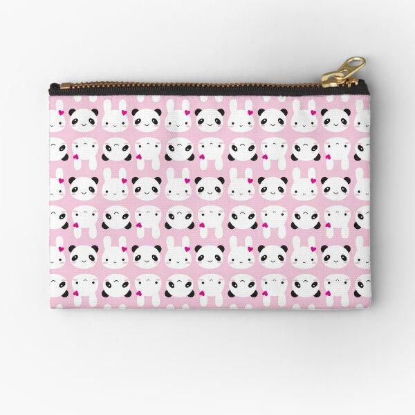 Super Cute Kawaii Bunny and Panda (Pink) Zipper Pouch
