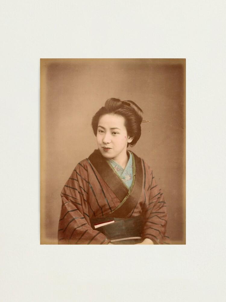 Alternate view of Japanese Geisha Photographic Print