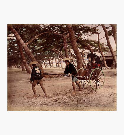 Jinrikisha - Meiji Japan Photographic Print