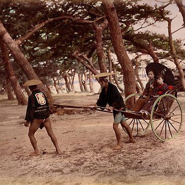 Jinrikisha - Meiji Japan by Fletchsan