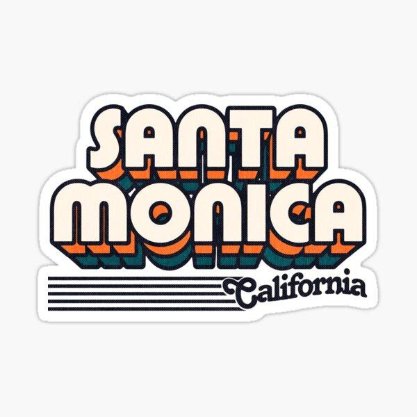 Santa Monica, California | Retro Stripes Sticker