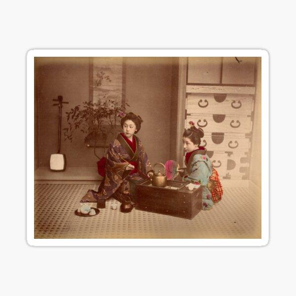Japanese girls, meiji period, Japan Sticker