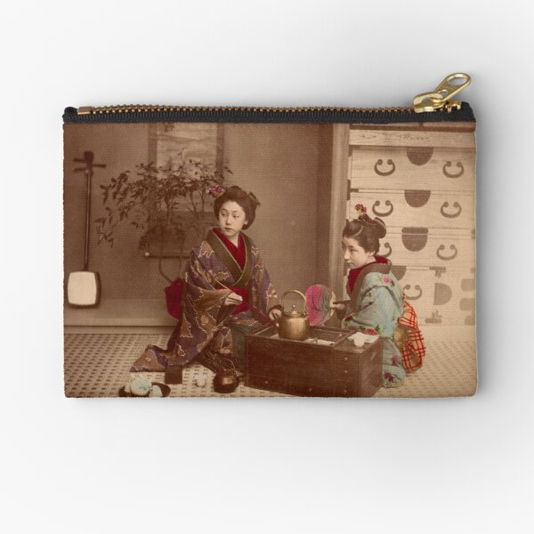 Japanese girls, meiji period, Japan Zipper Pouch