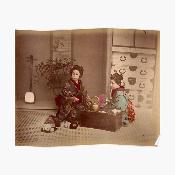 Japanese girls, meiji period, Japan Poster