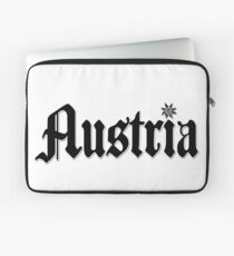 Austria / Austria - Flower Design Laptop Sleeve
