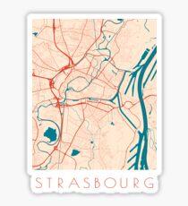 Strasbourg Graphic Map Sticker