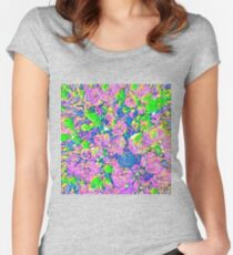 Abstract Flowers Fitted Scoop T-Shirt