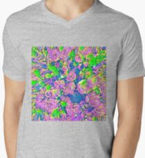Abstract Flowers V-Neck T-Shirt