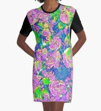 Abstract Flowers Graphic T-Shirt Dress