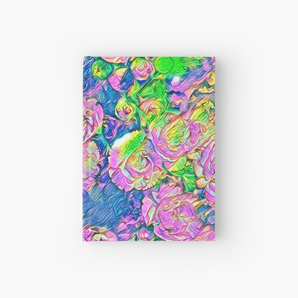Abstract Flowers Hardcover Journal