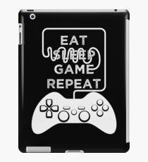 Eat Sleep Game Repeat Gaming Gamers Progamer Gamer iPad Case/Skin