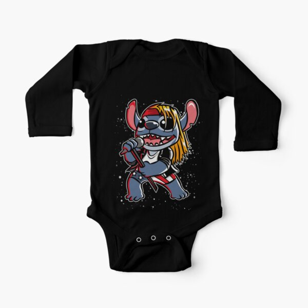 Space & Roses Long Sleeve Baby One-Piece
