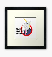 Really Inventive Unicorns Framed Print