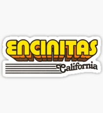 Encinitas, California | Retro Stripes Sticker