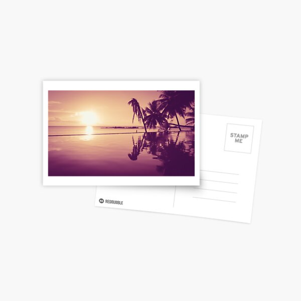 Paradise sunset Thailand Postcard