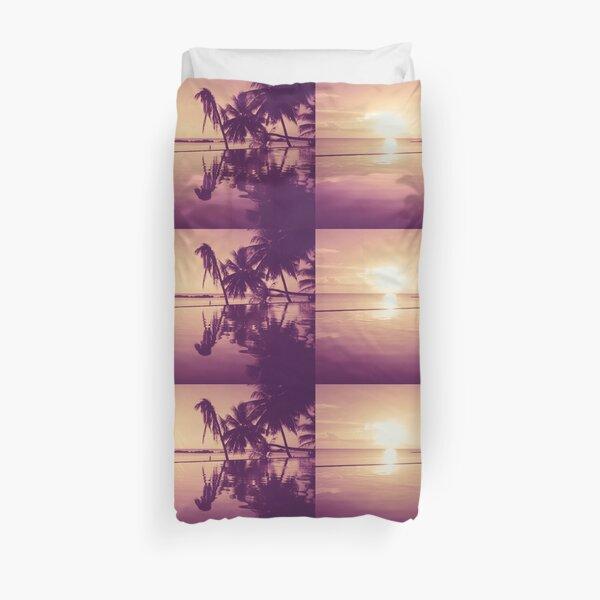 Paradise sunset Thailand Duvet Cover