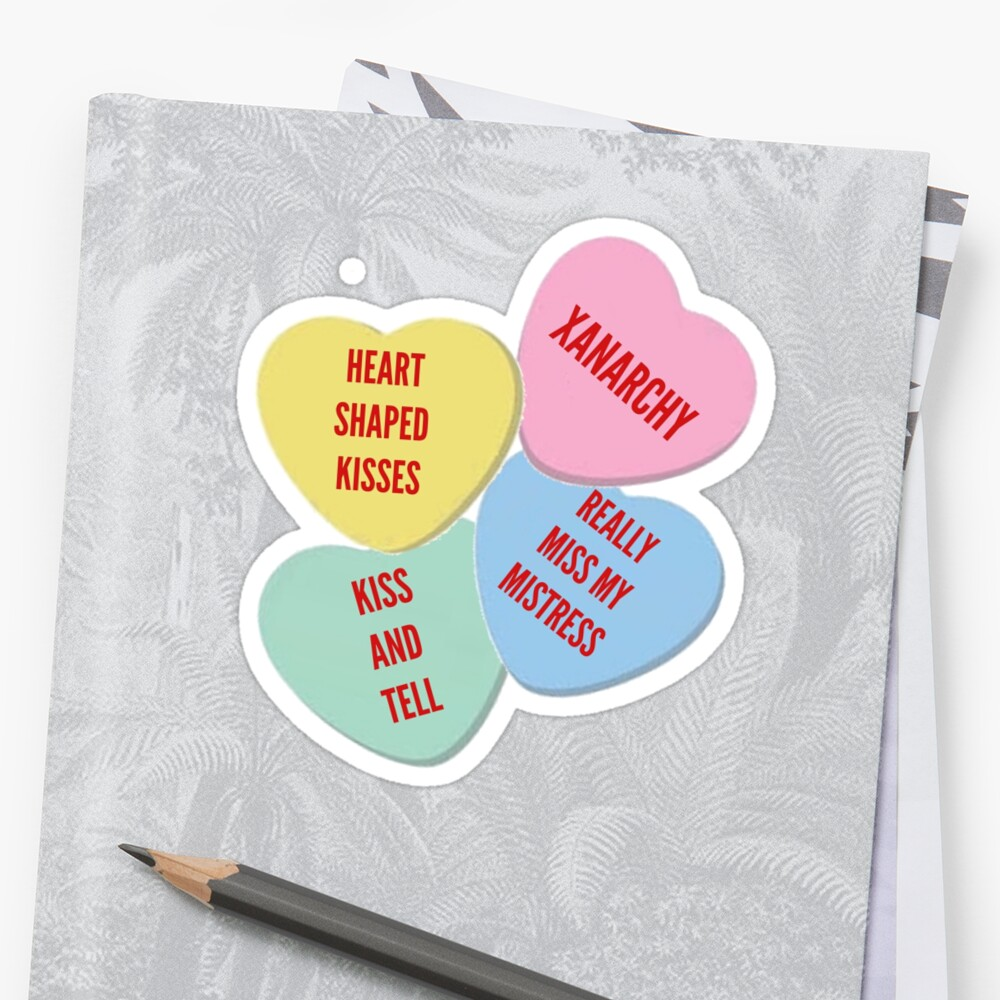 More Knock Off Lil Xan Valentine S Day Merch Stickers By Lenag56