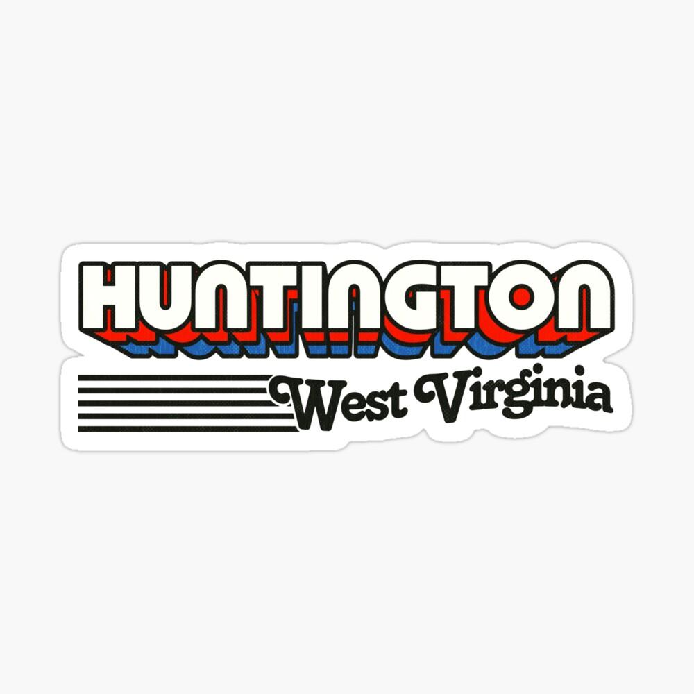 Huntington, West Virginia   Retro Stripes Sticker