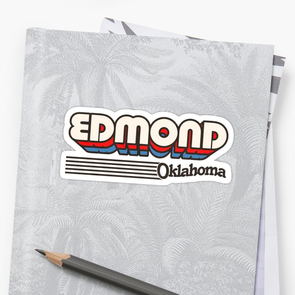 Edmond, Oklahoma | Retro Stripes Sticker