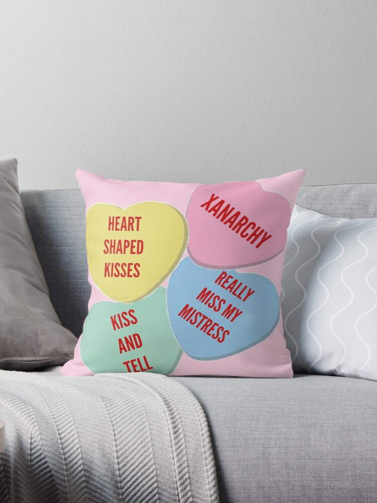 More Knock Off Lil Xan Valentine S Day Merch Throw Pillows By