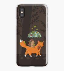 Hedgehog and fox iPhone Case/Skin