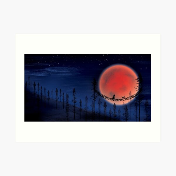 Super Blue Blood Moon Art Print