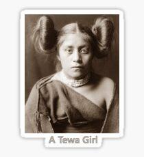 A Tewa Girl - Vintage Photographic Portrait Sticker