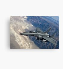 Military Fighter Jet Photograph Canvas Print