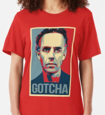 Gotcha - Jordan Peterson Canadian Psychologist Cathy Newman Debate Slim Fit T-Shirt