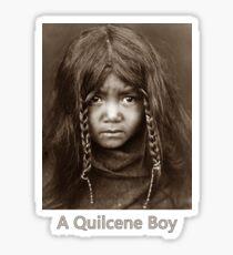 A Quilcene Boy - Vintage Photographic Portrait Sticker