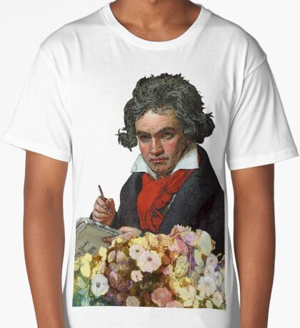 Ludwig von Beethoven Grunged II Long T-Shirt