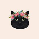 Black cat breed floral crown black cats lover pure breed gifts  by PetFriendly